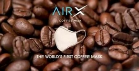 World's first face mask made from coffee - an eco-friendly message from AirX